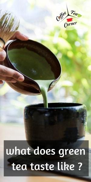 green tea taste pin
